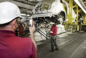 The last Mitsubishi Outlander Sport makes its way to the end of the production line. It was a bittersweet moment for many Local 2488 members who took pride in building quality vehicles for 27 years.