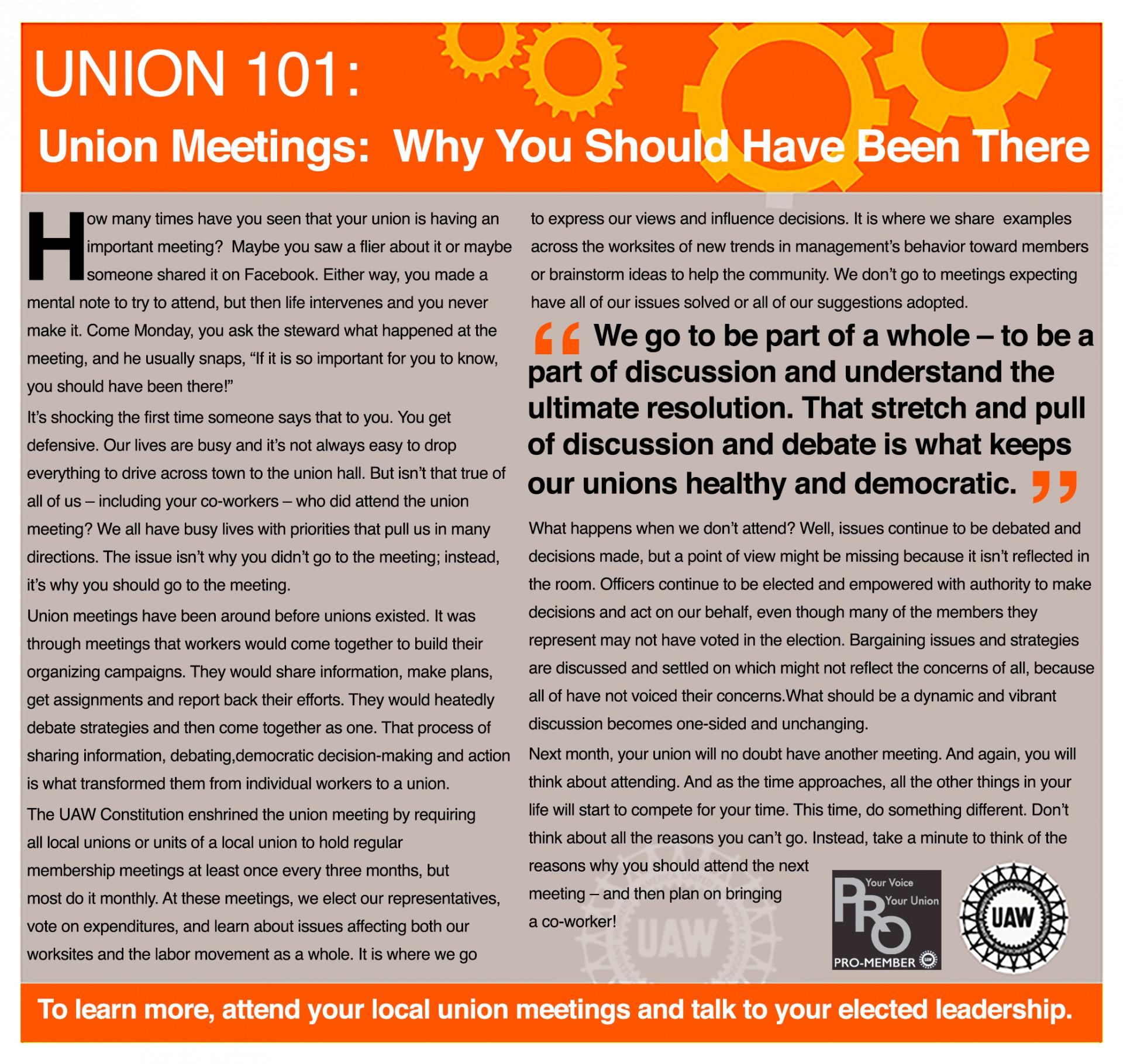 union 101