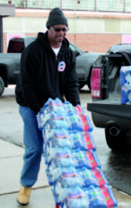 UAW Local 659 President Reggie Smith is proud to be a 'Flintstone.' His mother and other family members still live there and are affected by the water crisis.