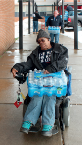 The UAW's water donation and distribution program has been invaluable to Flint residents, especially the elderly.