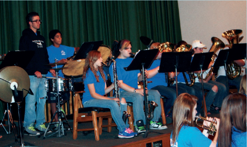 The UAW Chaplaincy Program treats the school band and choir at Inland Lakes High School to a meal and fellowship at Black Lake every year. The students put on a concert for the chaplains.