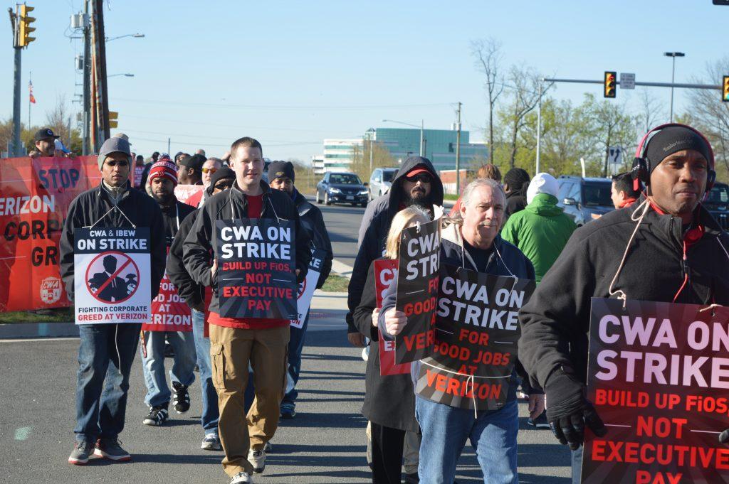CWA IBEW Verizon Strike 2016