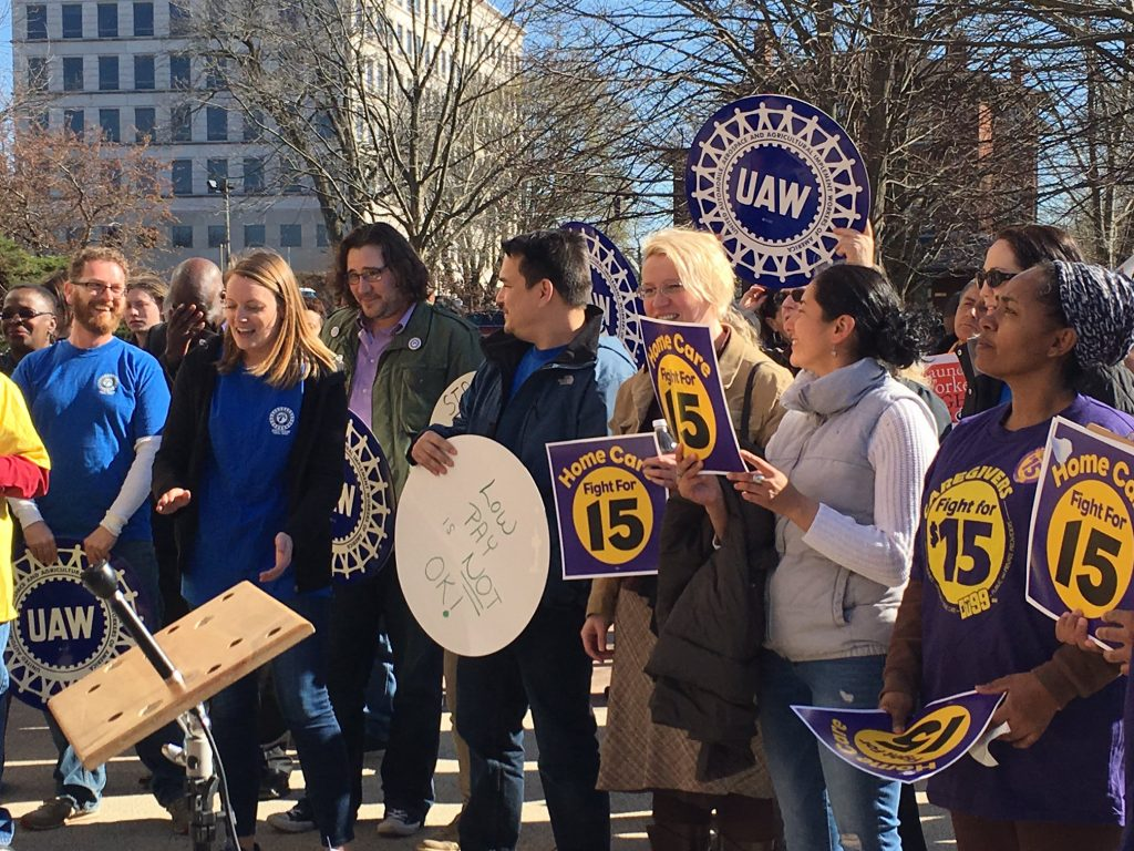 UAW members from Region 9A in Hartford, CT